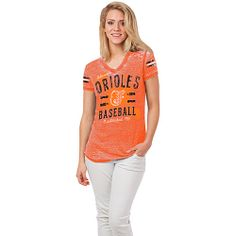 Baltimore Orioles Women's Burnout Tee by 5th & Ocean - MLB.com Shop