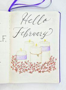 February Bullet Journal Setup - Sheena of the Journal