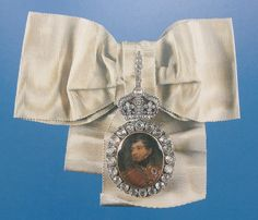 Insignia of the Royal Family Order of George IV (or presentation portrait of the King) miniature by Henry Bone (1820), setting probably by Rundell, Bridge & Rundell (1821). In a private collection.