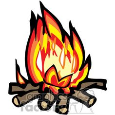 campfire clip art free | Clip art of A Hot Campfire . | 374200 | Royalty-Free Clipart by Graphi ...