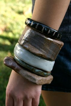Ceramic bangles by Juju Made
