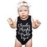 Muxika Summer Newborn Baby Girl Boy Sleeveless Letter Romper Jumpsuit Outfits
