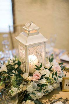 Elegant Lantern & Floral Centerpiece | Rachael Osborn Photography