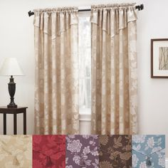 Aldridge Jacquard Window Curtain With Attached Valance $40.00