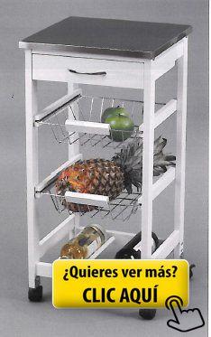 Kit Closet 7040028012 - Carro de cocina con cestas... #mueble #cocina