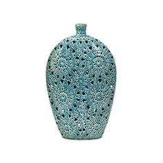 Sola Vase in Aqua