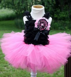 Baby Girls first birthday setblack romper top by christy961, $40.00