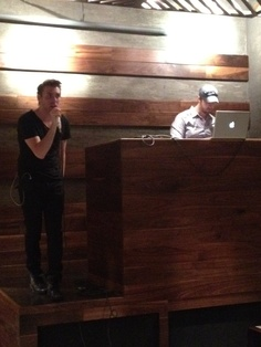 Michael S. doing a soundcheck before his show at Bodi in Chicago (6/23/2012)