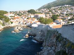 A beautiful view of Dubrovnik from the sea side of the wall.