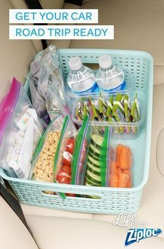 Let these tips from Ziploc® make road trips a little more bearable. Make your own car trash cans, great road trip snacks, and more #roadtripsnacks #roadtriptips