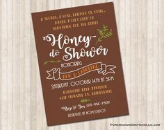 Honey Do Shower Invitation Custom Invitations, Shower Invitations, Honey Do Shower, White Envelopes, I Am Happy, No Response, Card Stock, Custom Design, Pure Products