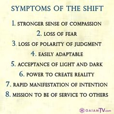 """Are you experiencing """"Symptoms of the Shift?"""""""