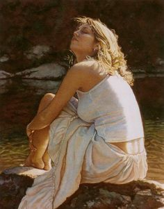 Painting by Steve Hanks  Just Breathe