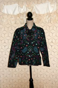 Embroidered Jacket Hippie Boho Jacket Paisley by MagpieandOtis