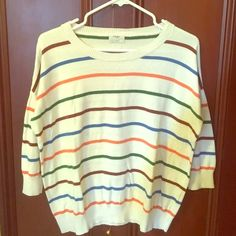 Madewell multi-color striped sweater Super soft, 94%cotton sweater Madewell Sweaters