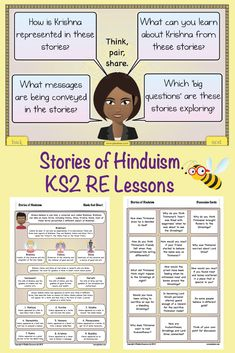 Find out about Hinduism beliefs through reading and analysing stories with this set of five RE lessons for Year 5 and Year 6 children. Hindu Worship, Year 6, Religious Education, Teaching Activities, Picture Cards, Lessons For Kids, Hinduism, Cambodia, How To Introduce Yourself