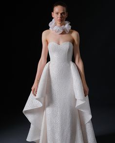 See the Spring 2020 wedding dresses from Isabelle Armstrong bridal Wedding Dress Trends, Bridal Wedding Dresses, Dream Wedding Dresses, Bridal Style, Wedding Ideas, Isabelle Armstrong Wedding Dresses, Lace Ball Gowns, Bridal Fashion Week, Monique Lhuillier