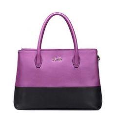 Romance series fashion leather handbag Rose red