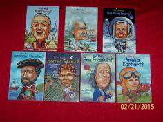 Lot 7 Who Was History Chapter Books~3rd Grade~Magellan~Ben Franklin~Mark Twain
