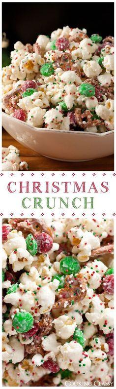 Christmas Crunch (Funfetti Popcorn Christmas Style
