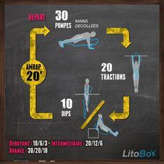 WOD de CrossFit de 20 minutes ciblé sur le haut du corps. 1,2,3 partez !  Bon courage et bon week-end à tous !  #crossfit