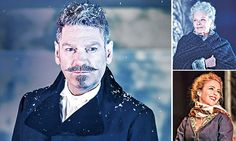 """Dame Judi Dench as Paulina, Kenneth Branagh as Leontes and Miranda Raison as Hermione in """"The Winter's Tale"""" (""""Zimowa opowieść"""") at The Garrick Theatre, London. #KennethBranagh #JudiDench #Shakespeare"""
