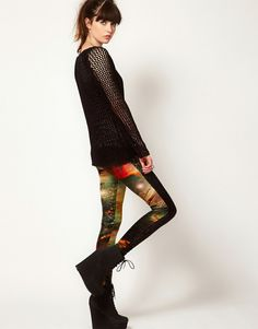 Evil Twin 'Outer Limits' Velvet Leggings