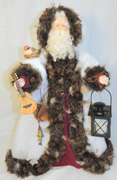 Handmade Old World Woodland Santa by JarysCreations on Etsy, $155.00