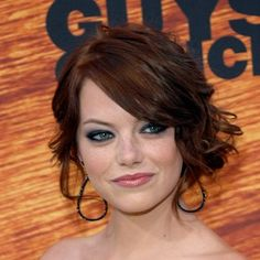 Emma Stone with a updo and smoky eyes - bridesmaid look? Too much?