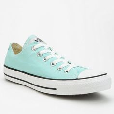 New Mint green low top converses Mint, Tiffany blue low top converses, perfect condition - have been worn five times tops since Xmas, will only consider trades for high tops in same color or red, black, or white. Pretty firm on price because I want to sell to buy high tops and they are basically new so you pay 20 dollars less than in store and we all know these never go on sale or out of style  (tags: chucks, chuck Taylor's, converse, all star) but will sell for a bit lower off posh Converse…