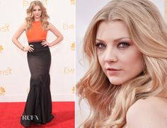 Natalie Dormer in J. Mendel Resort 15 gown, Fred Leighton jewelry, Jill Haber clutch and Sophia Webster Tyra Slingbacks – 2014 66th Emmy Awards