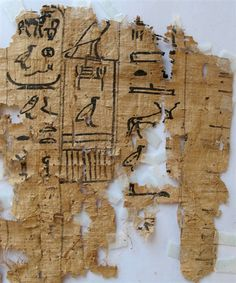 This hieroglyphic papyrus was among scores of ancient documents found at Wadi al-Jarf in Egypt. Egypt SCA via AP Ancient Egyptian Art, Ancient History, Papyrus, Great Pyramid Of Giza, Visit Egypt, Pyramids Of Giza, Old Port, Egypt Today, Luxor