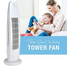 Buy Oscillating 29 Inch 3 Speed Tower Fan for Home or Office, Quiet and Powerful Tower Fan, Floor Fans, Toddler Bed, Home, Child Bed, Ad Home, Homes, Haus, Houses