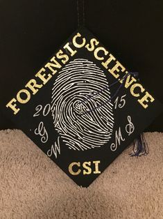 My graduation cap for my Master's degree :) Crime Scene, Criminal Justice, Forensic Science