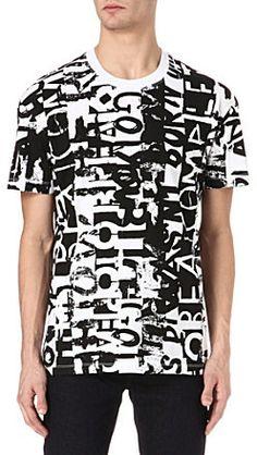 McQ by Alexander McQueen Text-print t-shirt on shopstyle.com