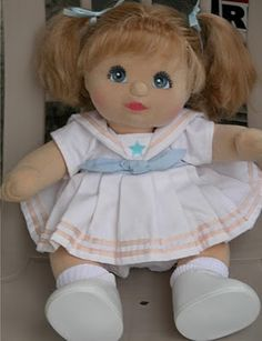 My Child Doll...I had her as a kid. I think I named her Katelyn. Or she came with that name. I can't remember.