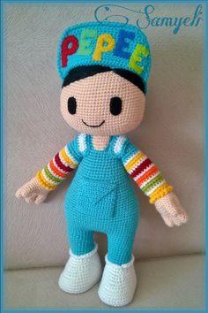 İlk Pepee'yi amigurumiye yeni başladığım zamanlarda Yaseminkale'nin… When I first started amigurumi, I knitted the first Pepee with the recipe of Yaseminkale. Knitting For Kids, Baby Knitting Patterns, Knitted Dolls, Crochet Dolls, Crochet Fairy, Crochet Motifs, Free Crochet, Lol Dolls, Crochet Baby Dresses