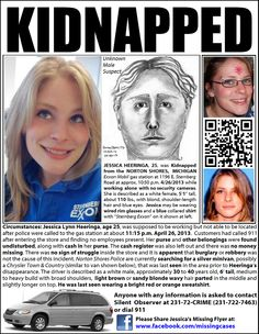 Suspect Sketch Released of Van Driver in JESSICA HEERINGA ABDUCTION: JESSICA HEERINGA, 25, was KIDNAPPED from the NORTON SHORES, MICHIGAN Exxon Mobil gas station at 1196 E. Sternberg Rd. at approx. 10:50 p.m. on 4/26/2013 while working ALONE with NO SECURITY CAMERAS!  Heeringa was supposed to be working but not able to be located after police were called to the gas station at about 11:15 p.m. Frid... See More