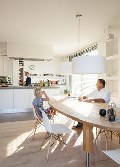 7 Bright, Open Kitchens: Amsterdam canal house kitchen with belgian granite countertops