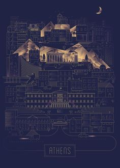 ATHENS by VASILIS PALLAS #poster #graphicdesign #Greece