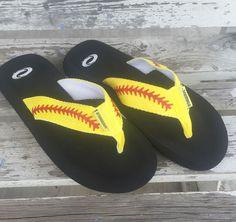 29a972d2b3cf Softball Flip Flops. Softball ShoesSoftball Coach GiftsSoftball Players Fastpitch ...
