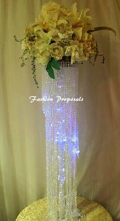 Wedding centerpieces 10 tabletop chandelier by FashionProposals