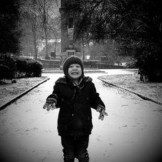 Rufus loving the snow
