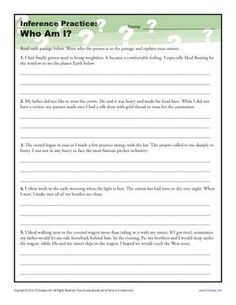 Inferences Worksheet Third Grade Reading Inference Drawing
