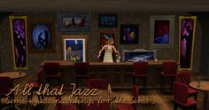 Around the Sims 3 | Custom Content Downloads| Objects | Decorative | Sims 4 to 3: Jazz Painrings