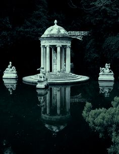 Genoa Pegli Villa Durazzo Pallavicini - Temple of Diana, Province of Genoa, Italy -- photo by Rosanna Angelini Slytherin Aesthetic, Aesthetic Art, Victorian Gardens, Gothic Garden, Victorian Interiors, By Any Means Necessary, Draco Malfoy, The Places Youll Go, Ancient Architecture