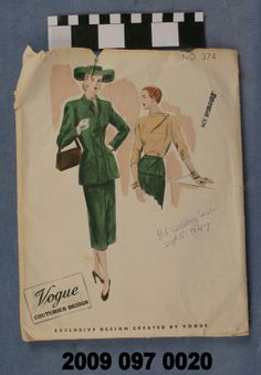 Color Printed Envelope with Pattern for Wedding Suit. (1947) Missouri History Museum