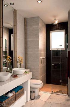 Que tal este boxe sanfonado? Um toque diferente e funcional em seu banheiro. #Dica