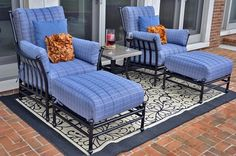 The Amia Collection 2-Person Cast Aluminum Patio Furniture Lounge Set, new for us in 2014.
