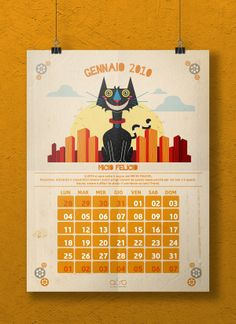 Ottimistario - 2010 Calendar by Francesco Pedrazzini, via Behance